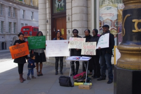 Nigerians In the UK Protest Boko Haram Killings