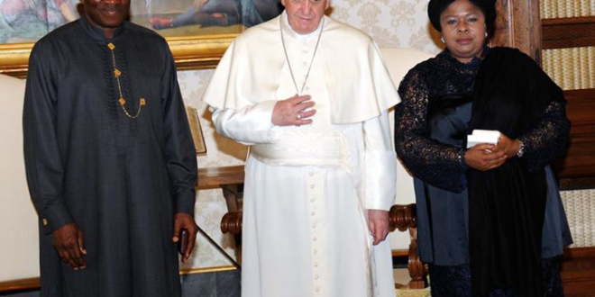 [Photo News] President Jonathan visits Pope at the Vatican
