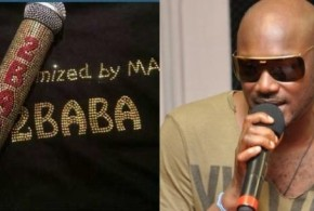 2Face Gets Customised Mic From Tonto Dikeh's Boyfriend, Malivehood