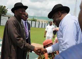 In Pictures: President Jonathan Arrives Jenegoa For His Daughter's Marriage Ceremony