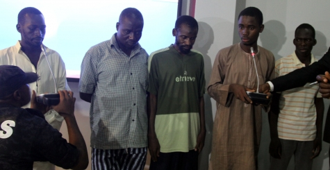 PHOTONEWS : Nigerian Secret Police Parades Abuja Bus Station Bombers