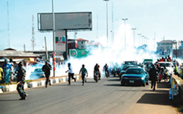 One dies as police attack Fayemi, supporters