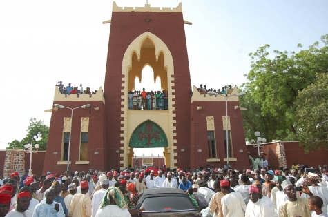 PHOTONEWS: Emir Of Kano, Sanusi Lamido, Entered Kano Palace