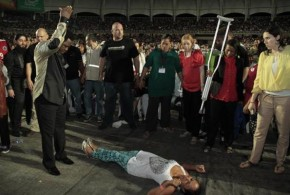 TB JOSHUA LIGHTS UP COLOMBIA, FILLS OLYMPIC STADIUM