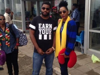 Diana King In Nigeria for a collabo with Praiz