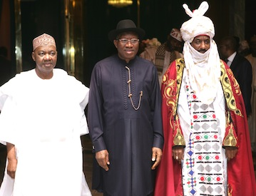 News in Pictures: Jonathan, Emir Lamido Sanusi reconciles