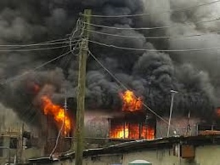 less than 24 hours after anti-Wike rally, Rivers PDP Secretariat set on fire