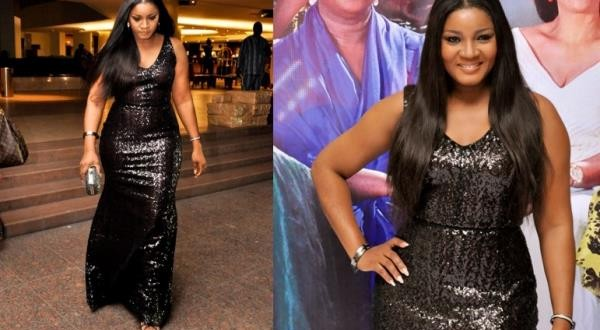 Omotola's Curves Cause Stir At Tiffany Amber Event