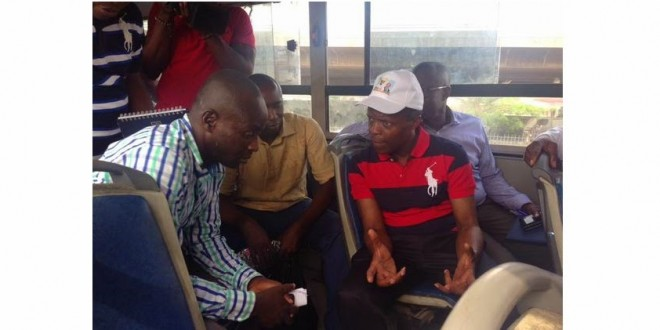 2015 ELECTIONS: Osinbajo Campaigns In Mass Transit Buses In Lagos
