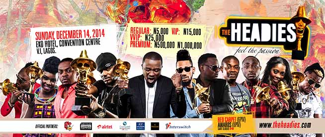 Faces at The Headies 2014 Awards