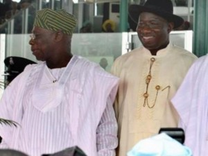 Jonathan criticizes Obasanjo, says ex-President canvassing to head Interim Govt