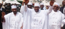 Jonathan and Sambo during a PDP Rally