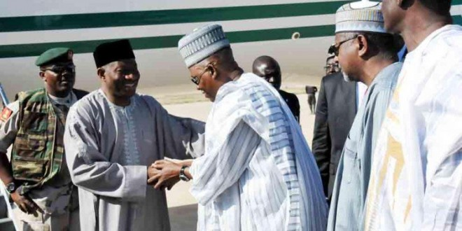 Shocker! President Jonathan visits  Soldiers and Displaced Persons in Borno State