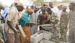 Okonjo-Iweala Visits Chibok, Lays Foundation for the rebuilding of Chibok Sec. School