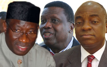 Jonathan holds private meeting with Adeboye, Oyedepo