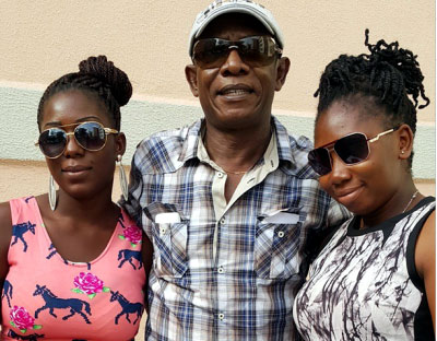 Meet Osuofia and his adorble daughters