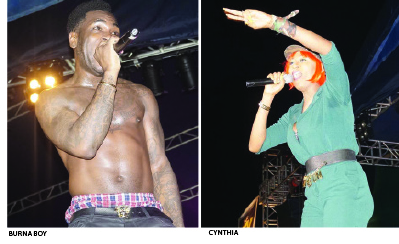 Burna Boy, Cynthia Morgan shine in Calabar Star Trek
