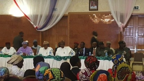 Finally, Buhari meets parents of abducted Chibok girls