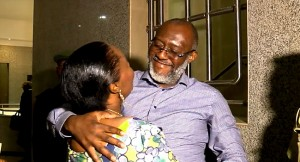 Olisa Metuh Released on Bail, reunites with family