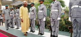 COMPTROLLER-GENERAL, NIGERIA CUSTOMS SERVICE,RETIRED  COL. HAMEED ALI INSPECTING   GUARD OF HONOUR DURING HIS FAMILIARISATION VISIT TO PORT HARCOURT COMMAND ON THURSDAY. 7456/12/2015/OCC/CH/NAN