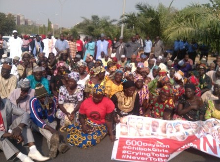 Parents of Chibok girls lead peaceful march to Aso Villa