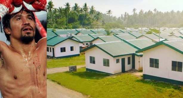 Manny Pacquiao builds over 1,000 homes for the poor in Philippines