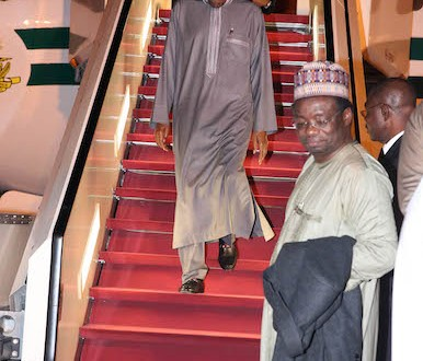 Buhari Returns To Nigeria After a six day Vacation