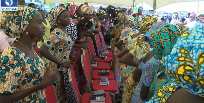21 Released Chibok Girls Reunite With Parents