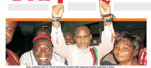 I desire Biafra, I want Biafra, I want nothing else other than Biafra – Nnamdi Kanu