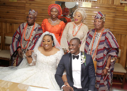 Photo News: Obasanjo's son weds Baba Ijebu's daughter