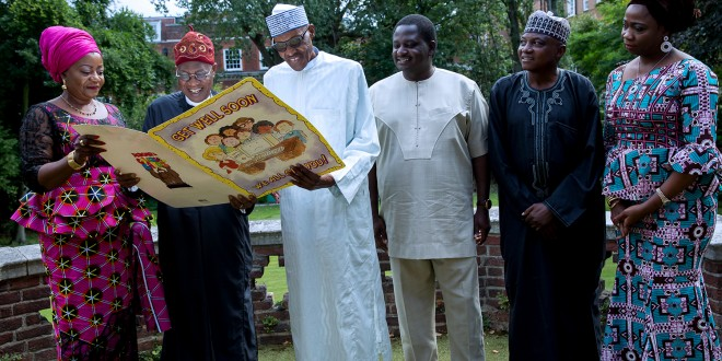 PHOTOS NEWS: Buhari's Media Team Visits Him In London