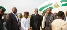 PHOTO NEWS: President Buhari Welcomed by Vice President Osinbajo