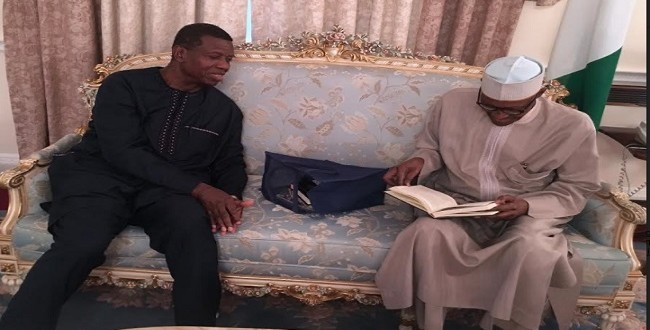 Adeboye Visits Buhari In London