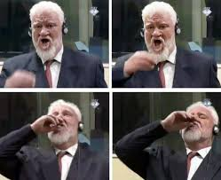 War crimes suspect, Bosnian Croat Praljak, dies after taking poison in court