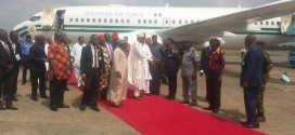 BREAKING: Buhari Arrives Ebonyi, Commences South-East Tour