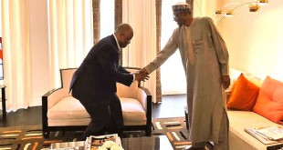 Godwill Akpabio visits PMB in London