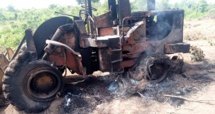 TEMIK NIG LTD CATERPILLAR BURNT BY UNKOWN PERSONS